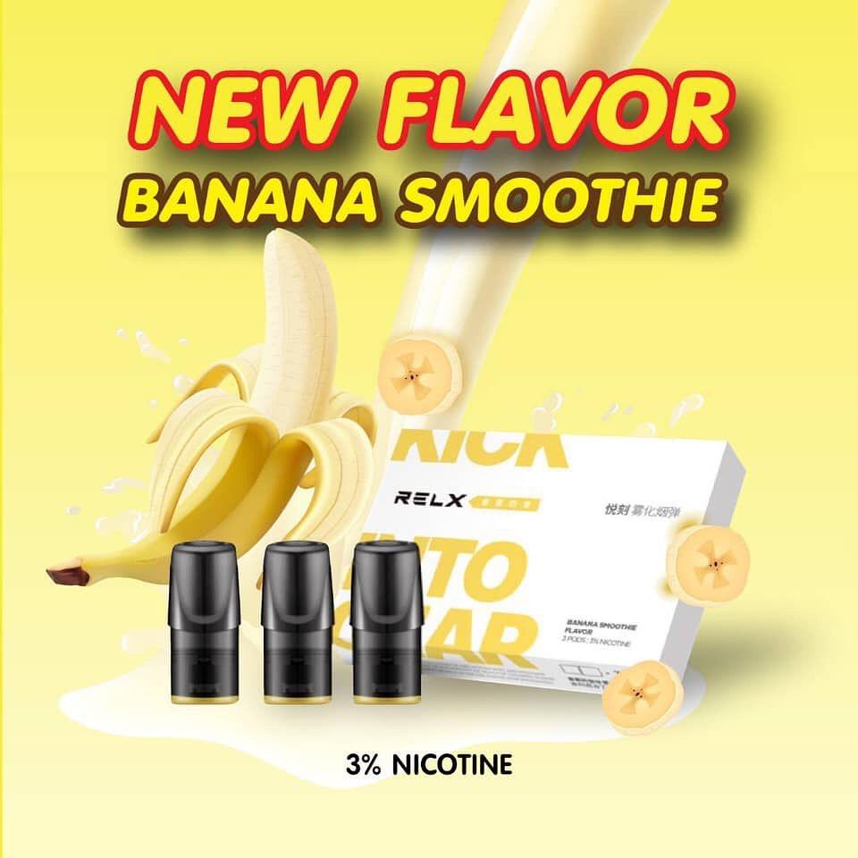 relx banana milkshake refill pods